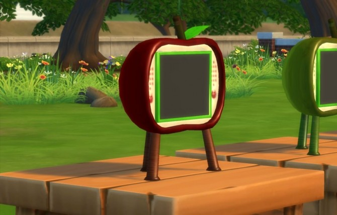 Sims 4 Apple Series TV and clock by darkdatatrc at Mod The Sims