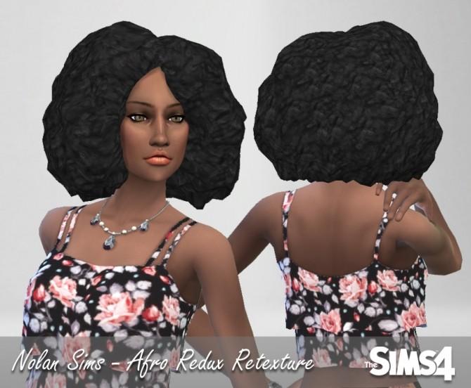 Afro Redux hair retexture at Nolan Sims image 10100 670x552 Sims 4 Updates