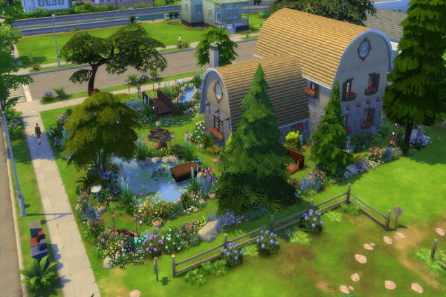 Sweet garden by mystril at blacky s sims zoo sims 4 updates for Garden design sims 4
