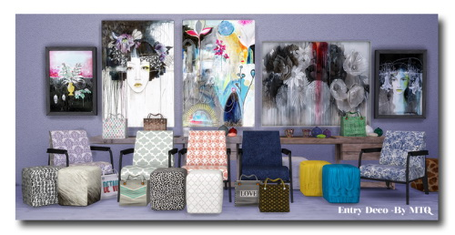 Entry deco recolors at msteaqueen sims 4 updates for Room decor sims 4