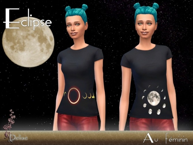 T SHIRTS ECLIPSE by Delise at Sims Artists image 10314 670x503 Sims 4 Updates