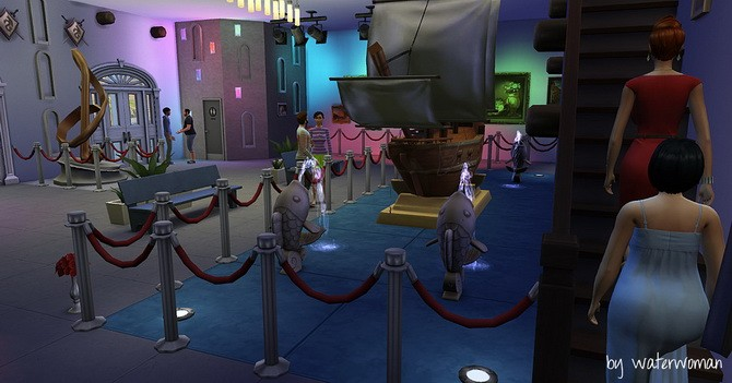 Sims 4 Museum Artisima by Waterwoman at Akisima