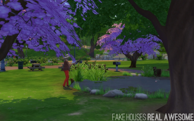 Sims 4 No Fade Trees and Streetlamps at Fake Houses Real Awesome