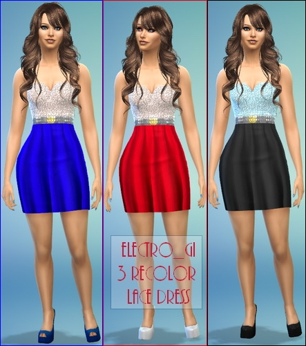 Sims 4 Lace Dress Pack by Electro Gi at The Sims Lover