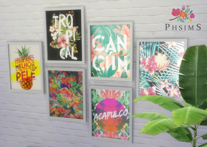 TROPICAL Wall Art At PHSIMS