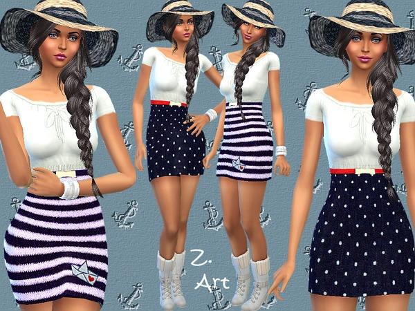 Marine dress by Zuckerschnute20 at TSR image 1060 Sims 4 Updates