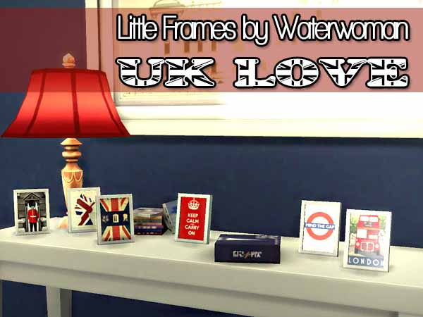 Sims 4 UK Little Frames by Waterwoman at Akisima