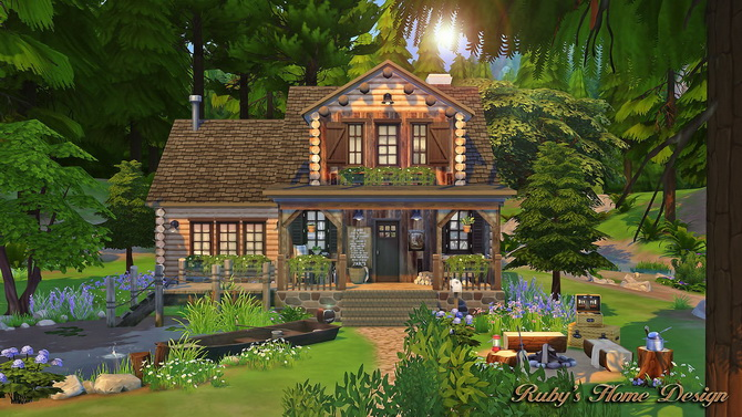 Forest Cabin At Ruby'S Home Design » Sims 4 Updates