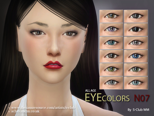 Eyecolor 07 by S Club WM at TSR image 11100 Sims 4 Updates