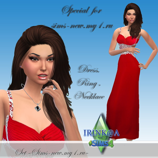 Dress, ring and necklace set at Irink@a image 1112 Sims 4 Updates