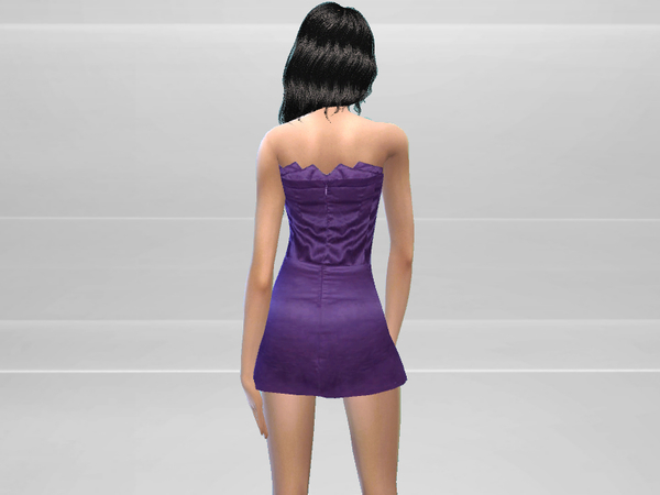 Sims 4 Strapless Dress by Puresim at TSR