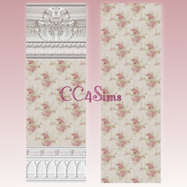 Sims 4 Rose Walls by Christine at CC4Sims