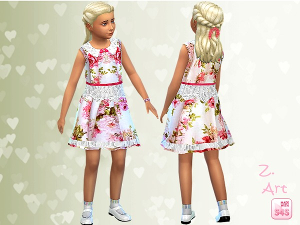 Sims 4 Sunday dress by Zuckerschnute20 at TSR