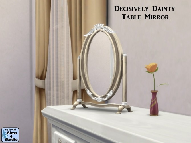 Decisively Dainty Table Mirror by OM at Sims 4 Studio image 11291 670x501 Sims 4 Updates