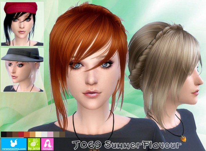 J069 Summer Flavour hair (Pay) at Newsea Sims 4 image 11351 670x491 Sims 4 Updates