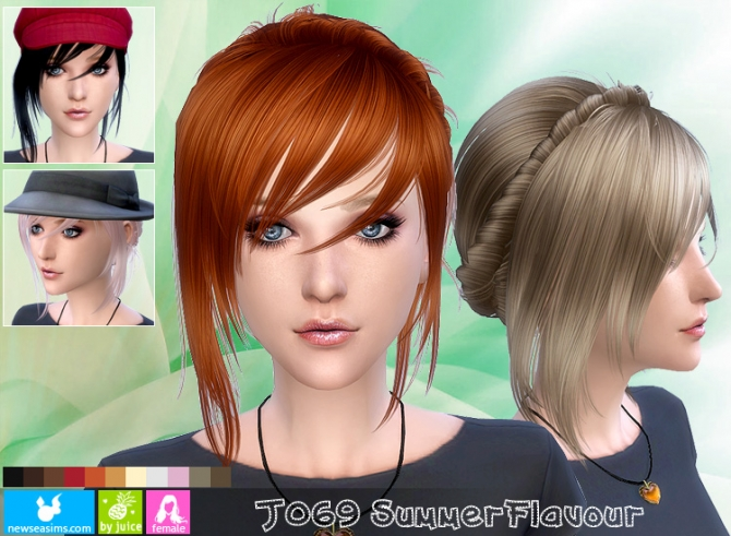 J069 Summer Flavour hair (Pay) at Newsea Sims 4 » Sims 4
