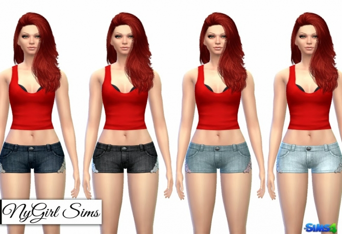 Lace Trim Denim Shorts at NyGirl Sims image 1142 Sims 4 Updates