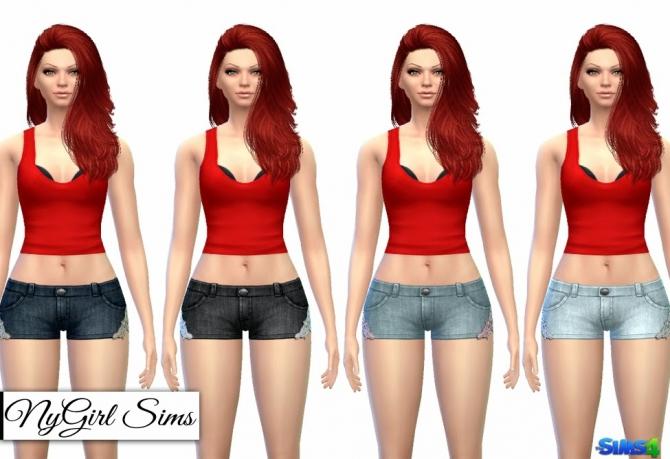 Lace Trim Denim Shorts at NyGirl Sims image 1142 Sims 4 Updates