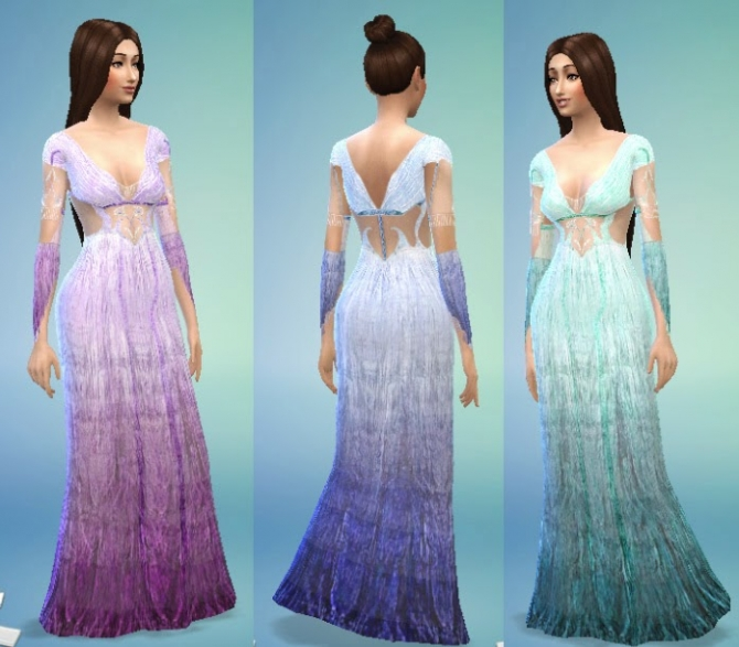 Sims 4 Veronas Gown Conversion at My Stuff