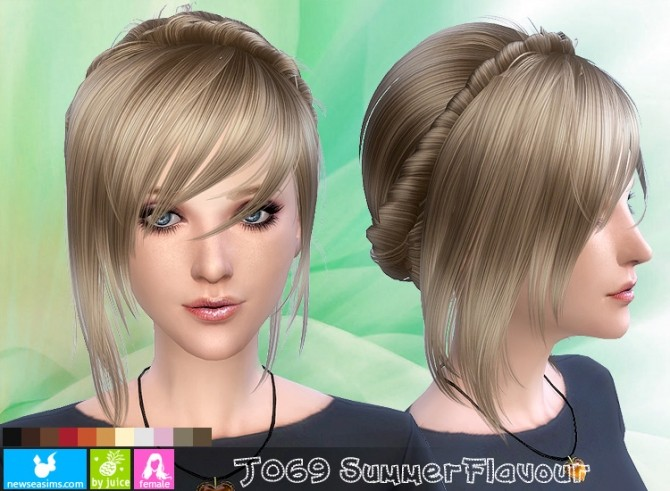 Sims 4 J069 Summer Flavour hair (Pay) at Newsea Sims 4