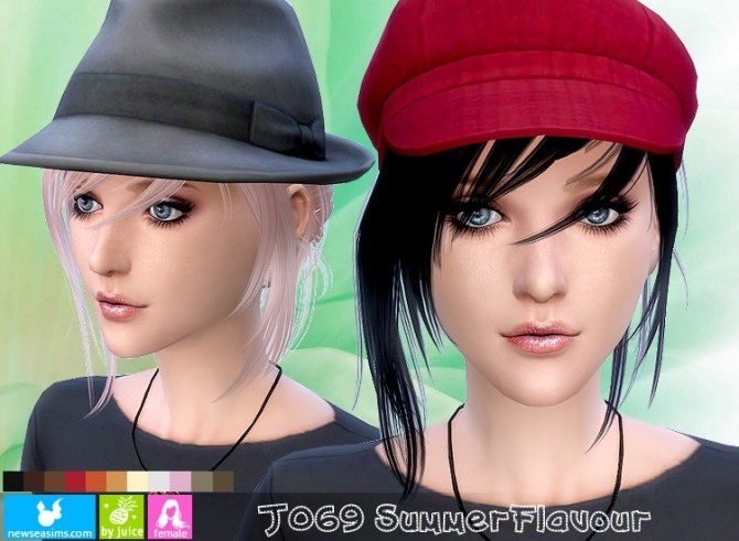 J069 Summer Flavour hair (Pay) at Newsea Sims 4 image 11641 670x491 Sims 4 Updates