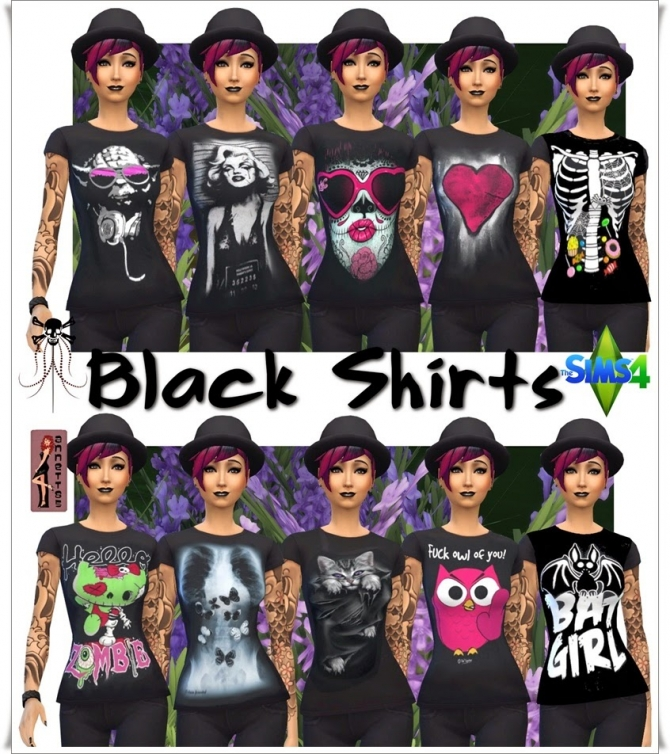Black Shirts for females at Annett's Sims 4 Welt image 1173 Sims 4 Updates
