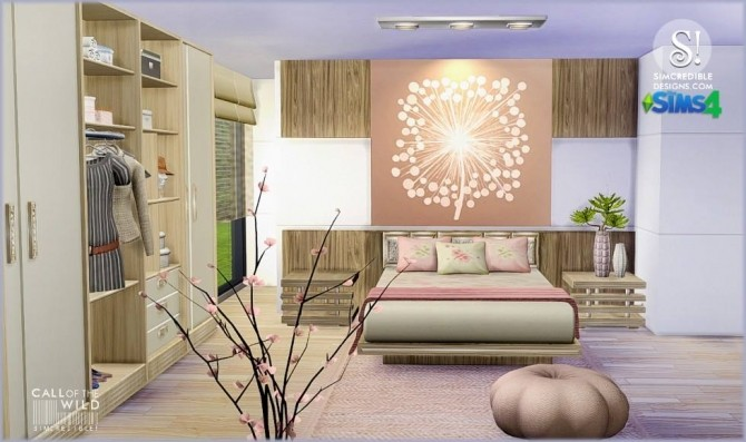 Call of the wild bedroom at SIMcredible! Designs 4 image 11841 670x397 Sims 4 Updates