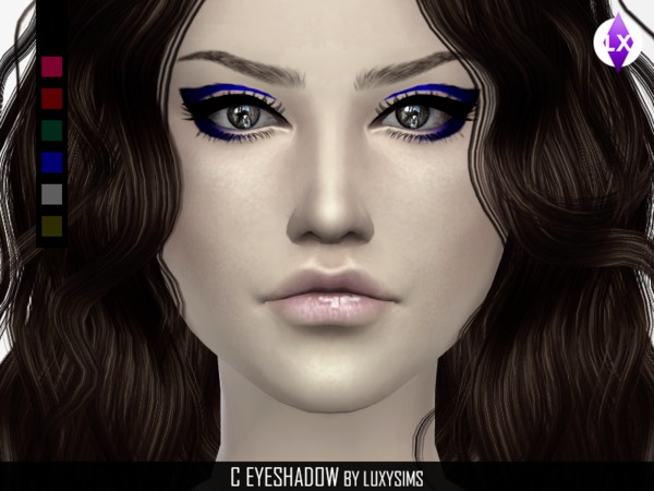 Sims 4 Eyeshadow C by LuxySims3 at TSR