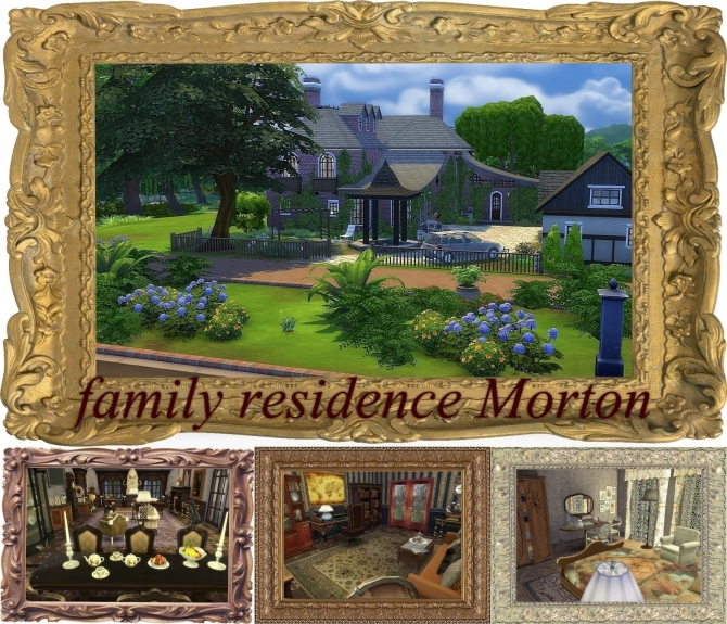 Sims 4 Morton house at Architectural tricks from Dalila
