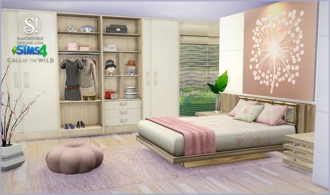 Call Of The Wild Bedroom At Simcredible Designs 4 187 Sims
