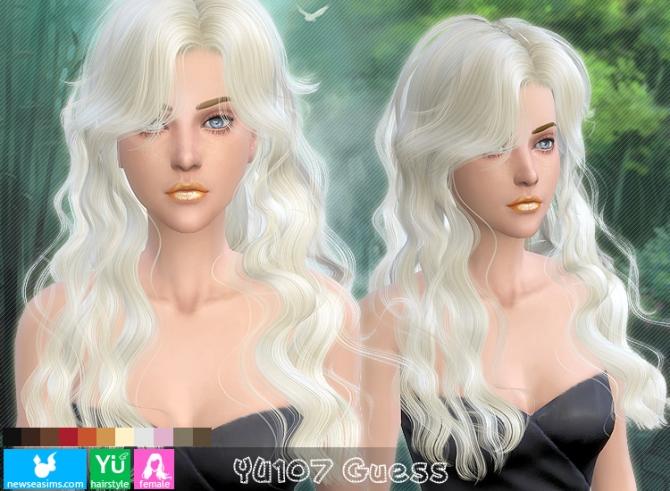 Sims 4 YU107 Guess hair (Pay) at Newsea Sims 4