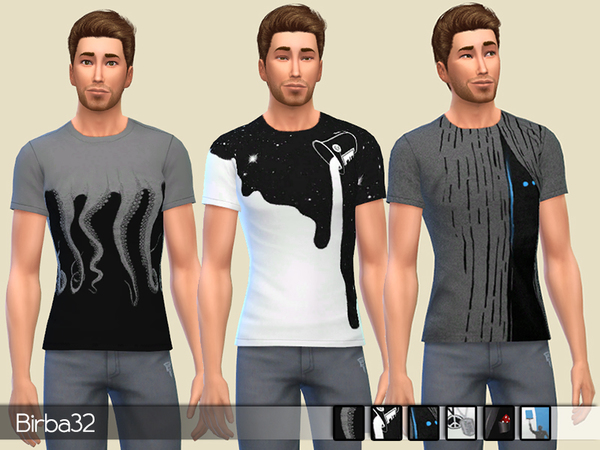 Sims 4 Creative T Shirts for males by Birba32 at TSR