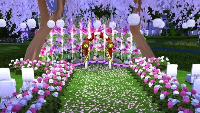 Sims 4 Enchanted Wedding Park at Sanjana sims