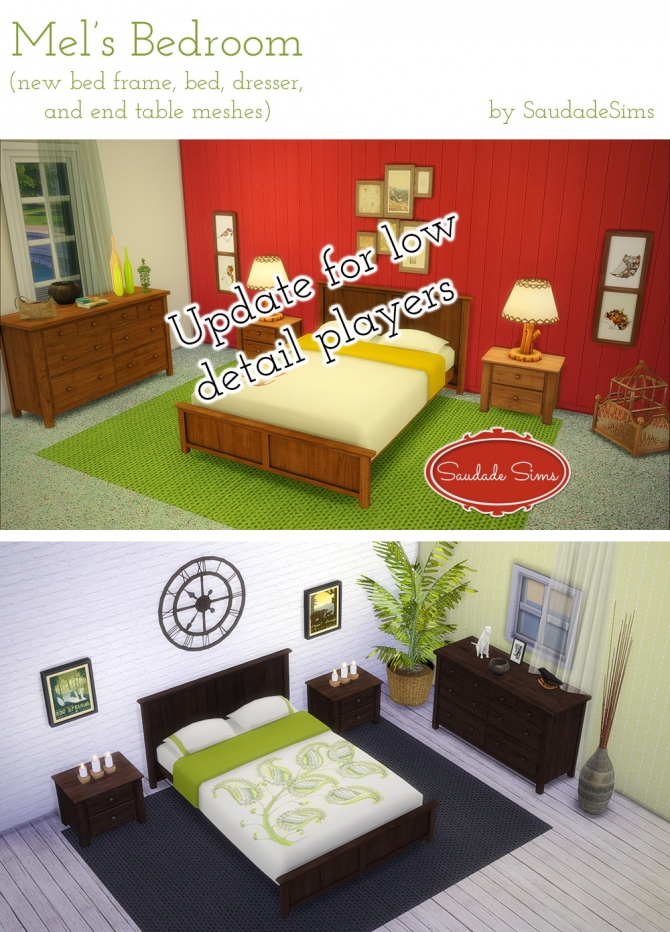 Mel's Bedroom *Updated* at Saudade Sims image 130 Sims 4 Updates