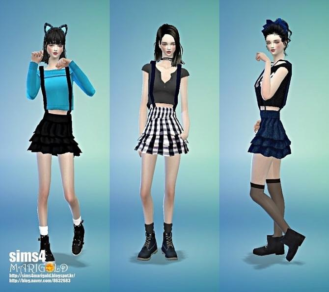 Suspender Tiered Skirt At Marigold 187 Sims 4 Updates