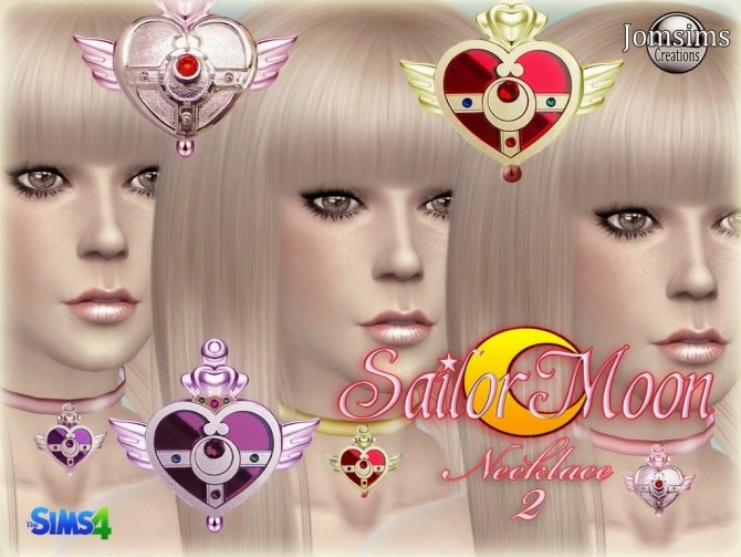 Sims 4 Sailor moon necklace at Jomsims Creations