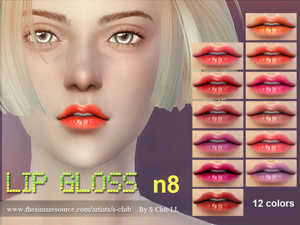 Lipstick F08 by S Club LL at TSR image 13131 Sims 4 Updates