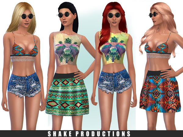 Sims 4 Clothes set 19 by ShakeProductions at TSR