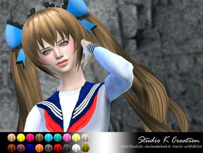 Animate hair 8 Norie at Studio K Creation image 13191 670x503 Sims 4 Updates