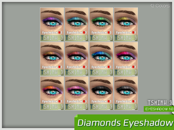 Sims 4 Diamonds Eyeshadow by tsminh 3 at TSR