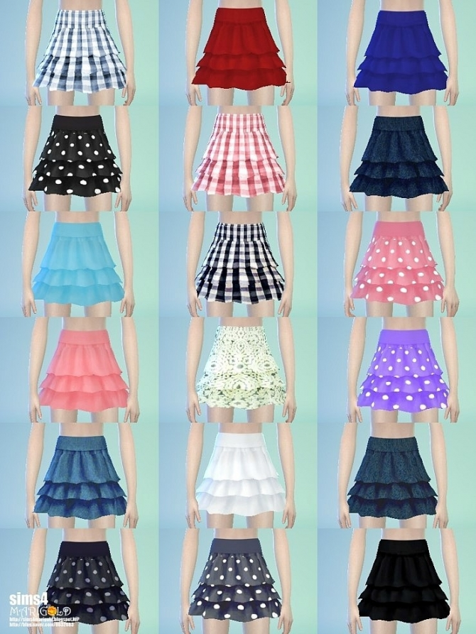 Suspender Tiered Skirt At Marigold 187 Sims 4 Updates
