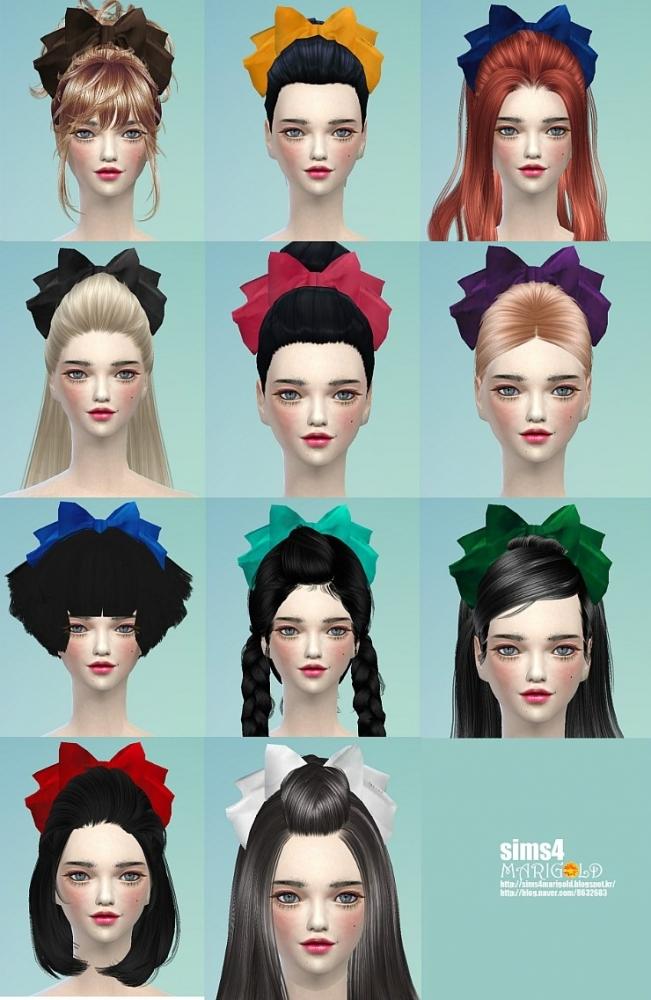 Sims 4 Big head ribbon at Marigold