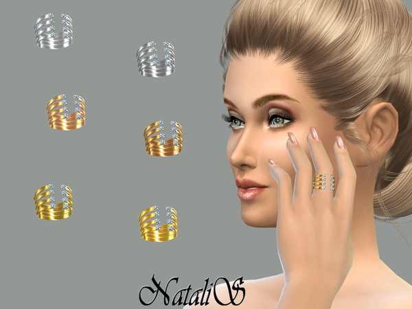 Sims 4 Encrusted open ring by NataliS at TSR