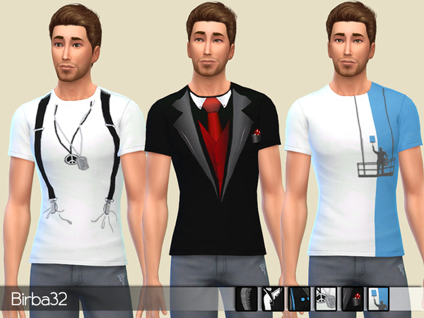 Creative T Shirts for males by Birba32 at TSR image 1338 Sims 4 Updates