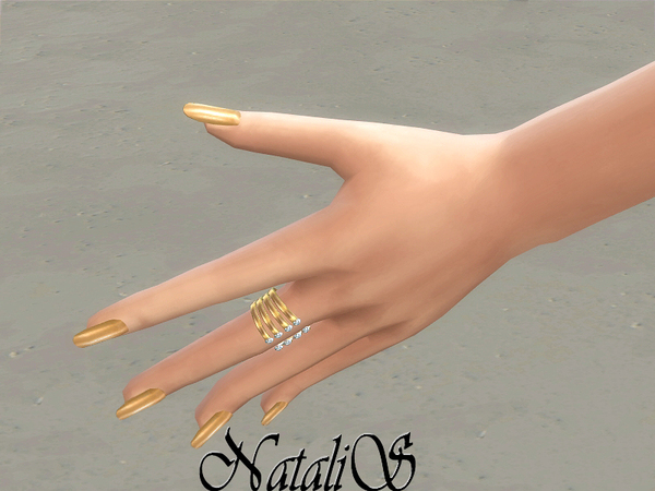 Encrusted open ring by NataliS at TSR image 13421 Sims 4 Updates