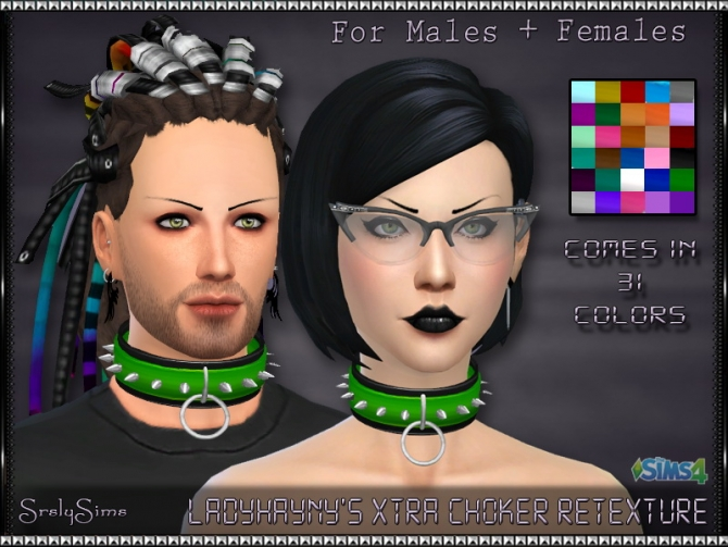 Sims 4 Xtra Choker Retexture at SrslySims