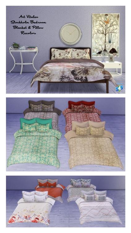 Sims 4 Art Vitalex's Stockholm Bedroom Recolors at Msteaqueen