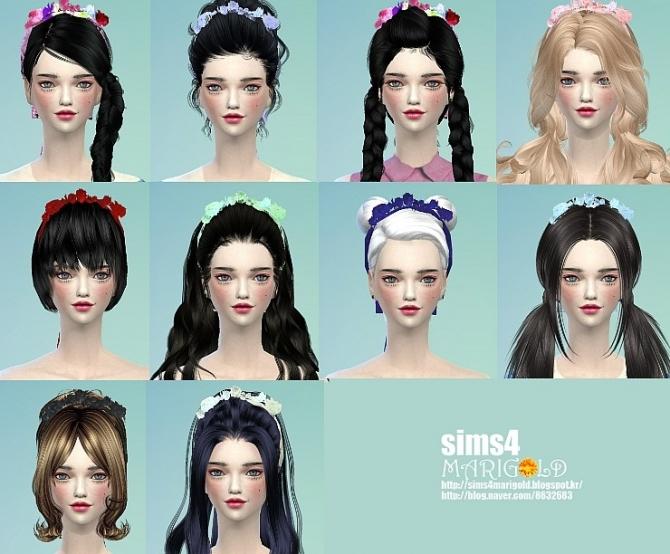 Flower hairband at Marigold image 136 Sims 4 Updates
