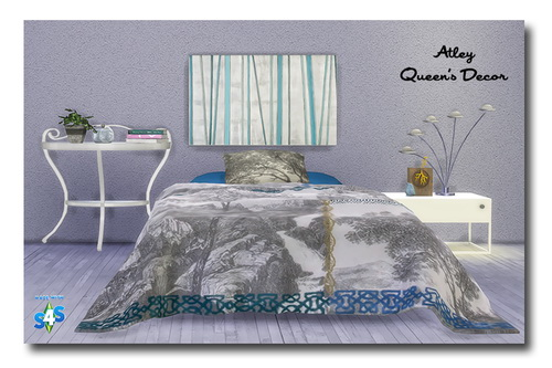 Sims 4 Bedspread & Pillow Recolors at Msteaqueen