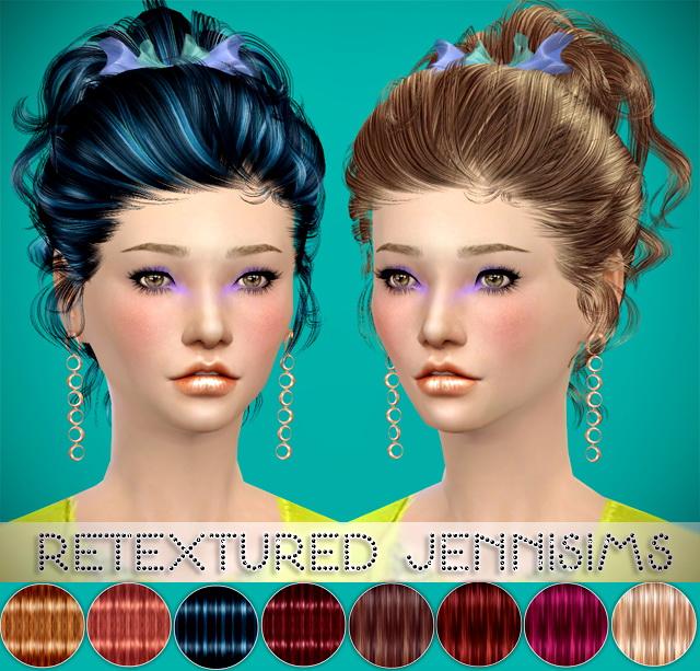 Sims 4 Newseas Rachel Hair retexture at Jenni Sims